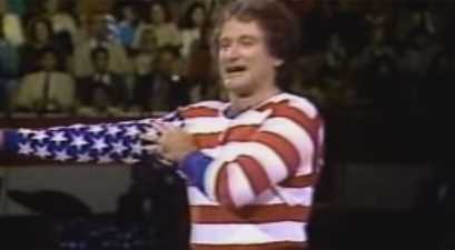 Robin Williams as the American Flag Will Make You Smile