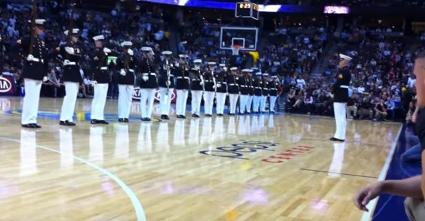 Watch the U.S. Marine Corps Silent Drill Platoon Bring Down the House
