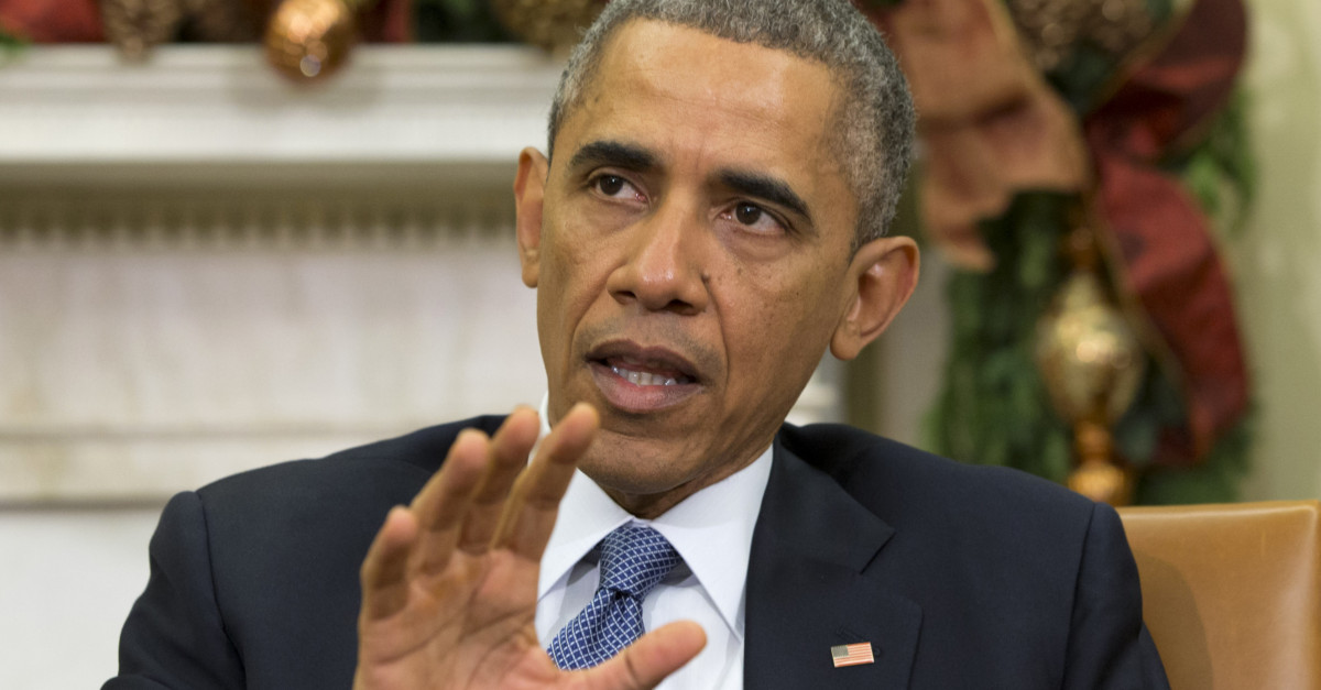 Do you feel safer under Obama? He seems to think you are