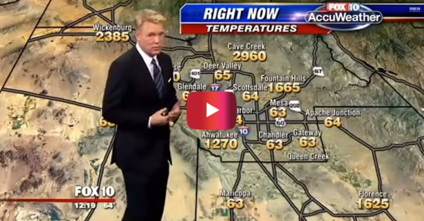 When a malfunctioning weather map turned up the heat, this hilarious weatherman kept his cool