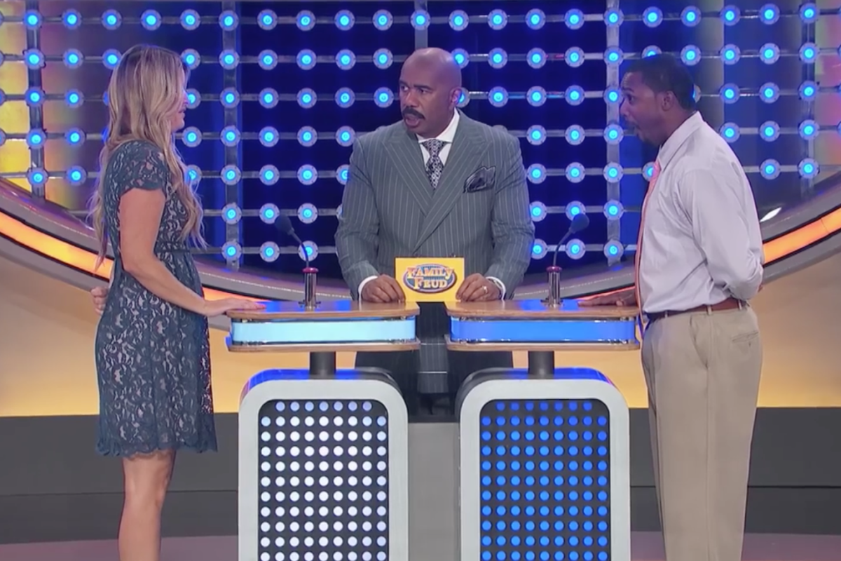 As soon Steve Harvey finished the question, this woman blurted out a humiliating answer