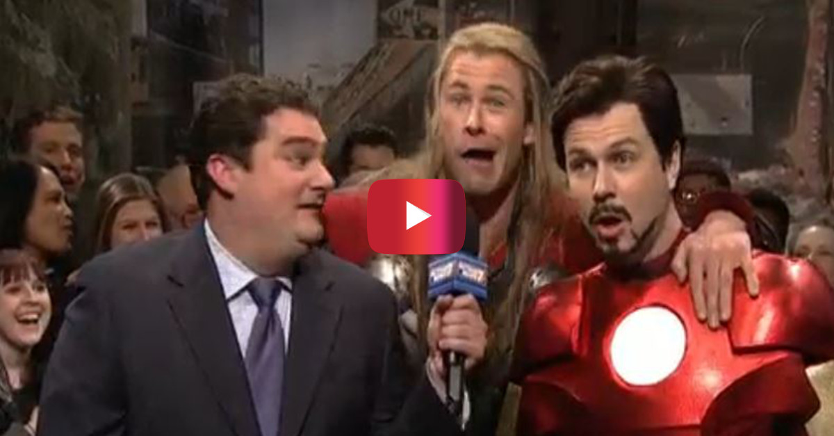 Chris Hemsworth steams it up as a ridiculous version of Thor on Saturday Night Live