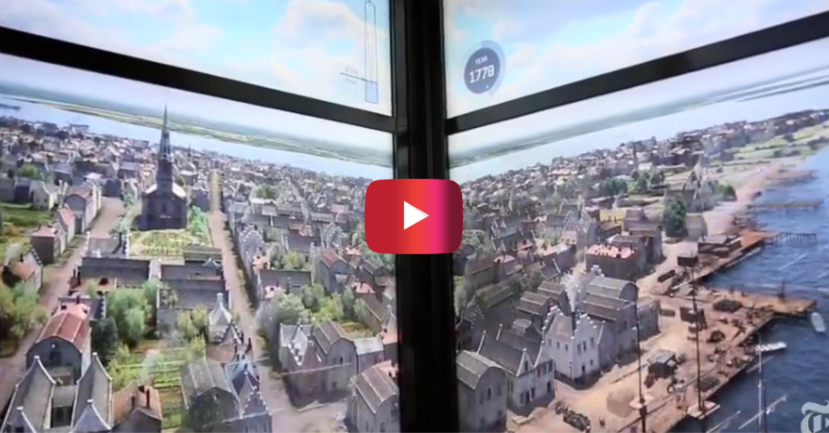 Discover 500 years of New York history riding up the elevator on 1 World Trade Center