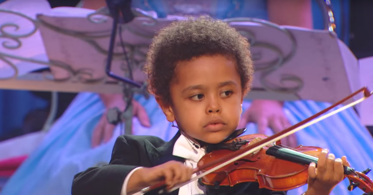 He might be tiny, but the music he plays on the violin is larger than life