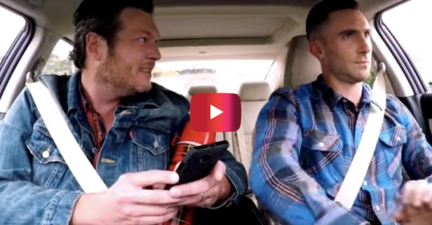 Watch as Blake Shelton pushes all of Adam Levine's buttons during a hilarious car ride
