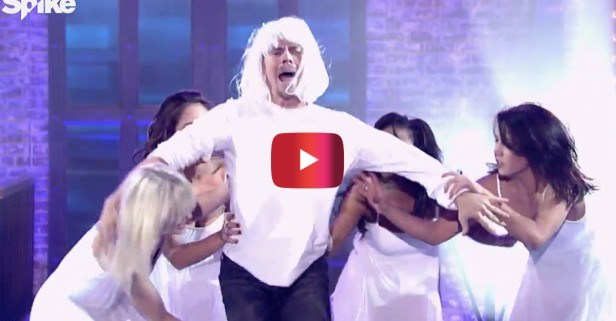 "Julianne Hough's ""I Just Had Sex"" and Derek Hough's ""Chandelier"" on Lip Sync Battle had the crowd going crazy"