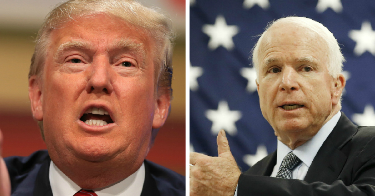 John McCain slams President Trump for his decision to pardon former Sheriff Arpaio