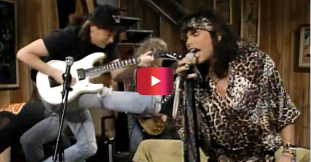 When Steven Tyler and Aerosmith appeared on Wayne's World they made television history