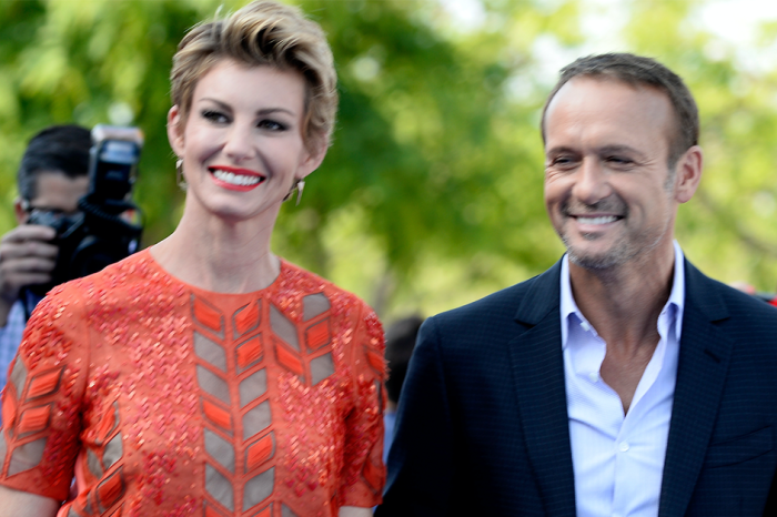 Take a listen as Tim McGraw and Faith Hill's daughter took the microphone at her dad's concert