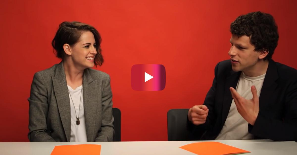 When Kristen Stewart and Jesse Eisenberg discussed smoking weed, things got a little weird