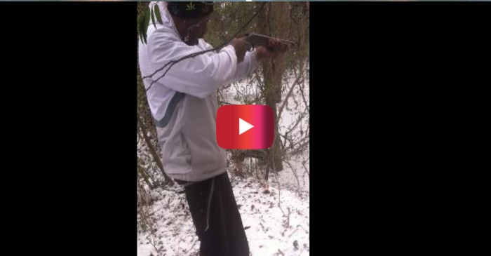 This guy learned the hard way that you don't shoot a sawed-off above the hip