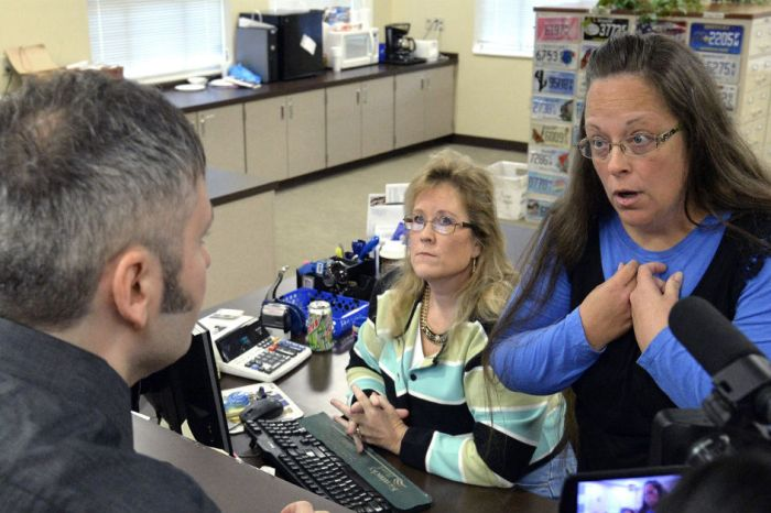 "This Kentucky clerk once again bucked the Supreme Court's mandate, citing ""God's Authority"""