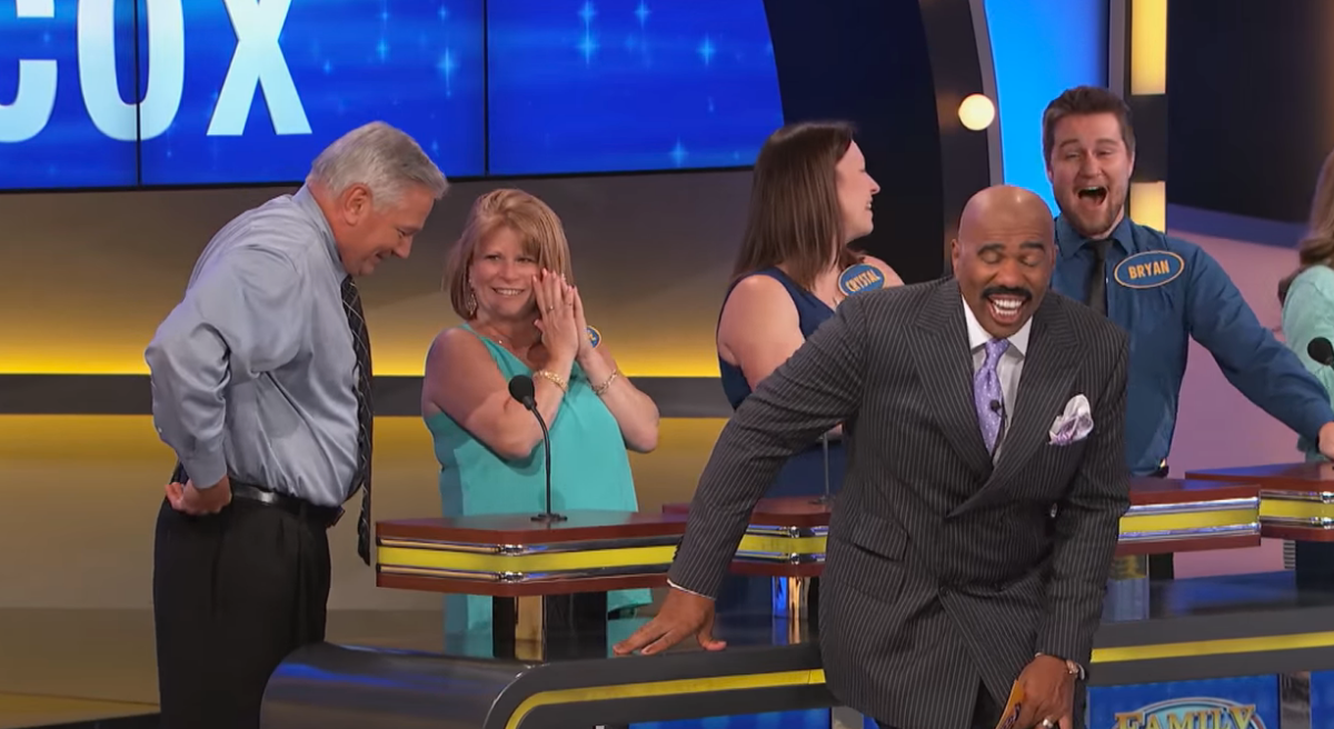 Steve could barely get a word out after asking a contestant about how to please a woman