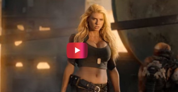 Charlotte McKinney is sexy as ever as an ass-kicking, burger-loving babe in this Carl's Jr./Call of Duty commercial