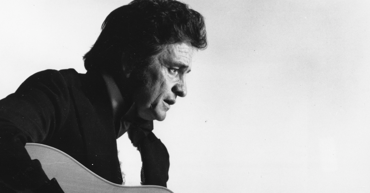 Hearing Johnny Cash recite the Lord's Prayer is giving us the chills