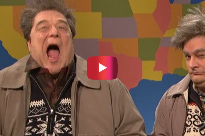 "John Goodman shows up as ""drunker uncle"" in one of SNL's most ridiculous moments"