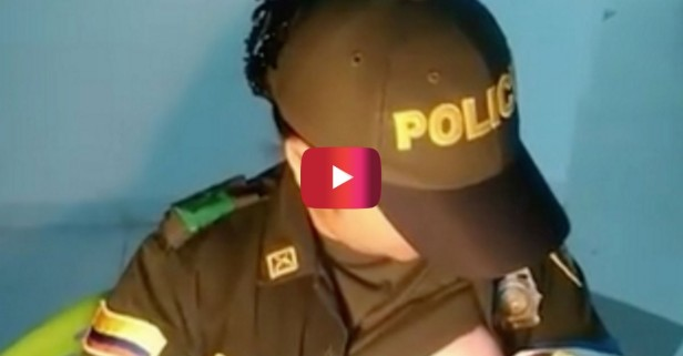 This Colombian police officer is being called a hero after her quick-thinking saved the life of an abandoned baby