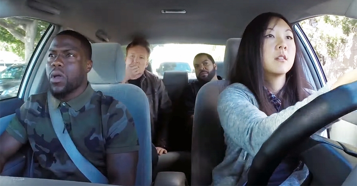 Kevin Hart, Ice Cube and Conan O'Brien Taught This Girl How To Drive on Live TV, and It's A Hilarious Mess!
