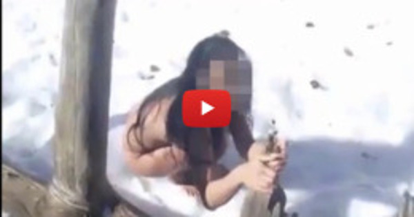 These hikers were walking in the snow, and were stunned when they found her like this
