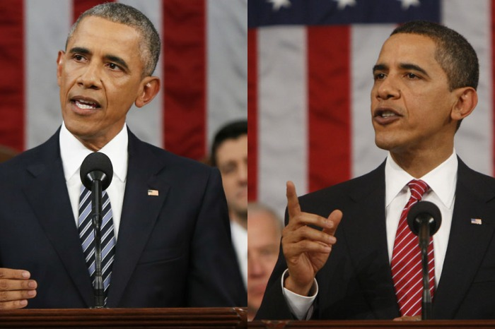 These graphics say everything about President Obama's first and last State of the Union addresses