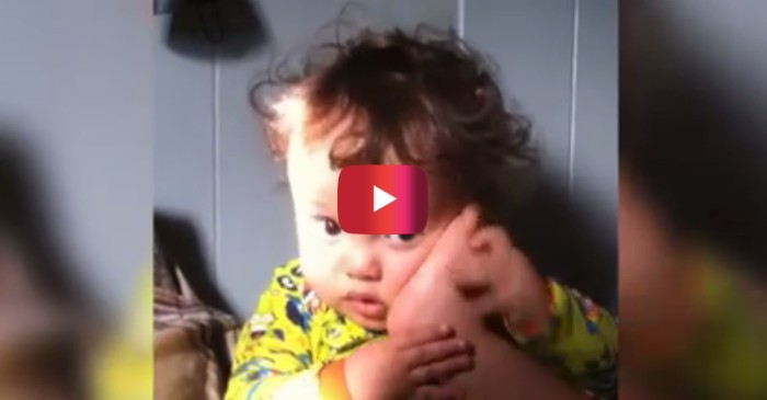 This adorable baby thinks his foot is a phone and he's too cute to tell him otherwise