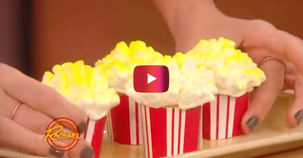 You absolutely must make these popcorn cupcakes for your next movie night