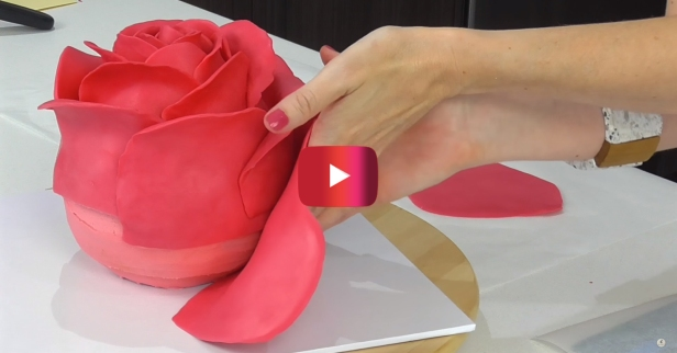This enormous rose is probably the most impressive cake you'll ever make