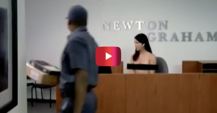 This funny banned beer commercial is apparently what happens when you run an office clothing drive