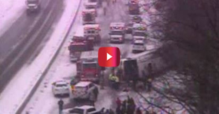 Passengers on a bus were headed to the casino when the unthinkable happened on this highway