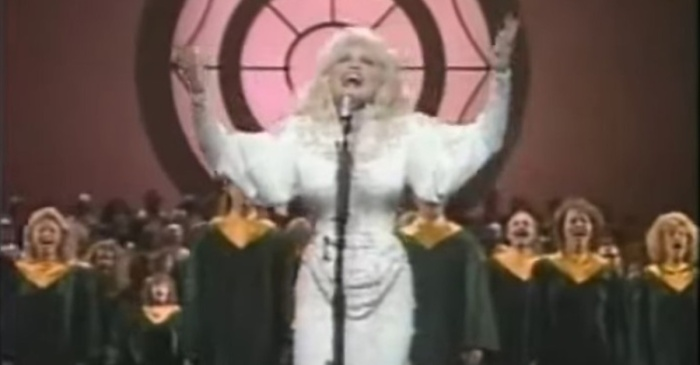 Country great Dolly Parton sings her praises all the way up to the heavens