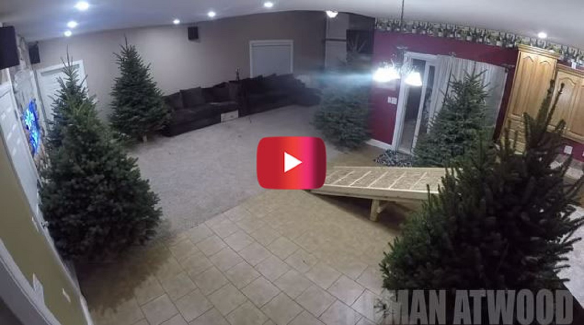 He wanted to surprise his children, and you'll smile when you find out what he planned in his living room