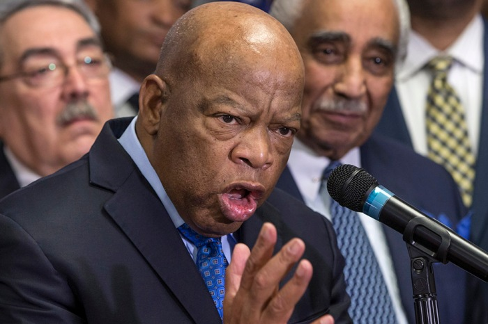 Congressman Lewis fires back and tells Trump what real action is as Atlanta seethes over the president-elect's tweets