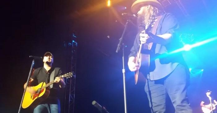 Listen as Luke Bryan and Chris Stapleton sing the heartfelt song that still breaks our heart