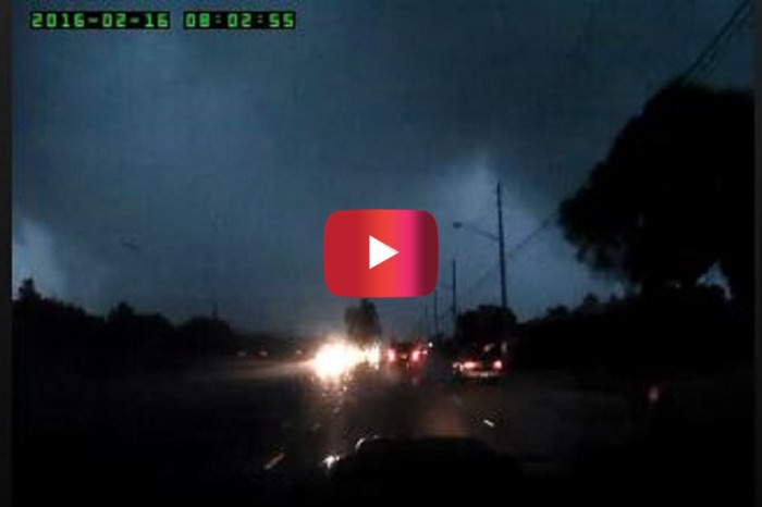 Dashcam footage caught this man's horrifying drive through a tornado — let's just say he had a bit of road rage