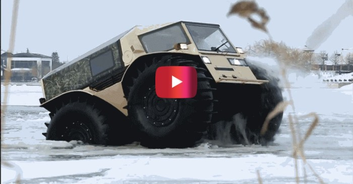 Watch this Russian ATV go absolute beast mode on land and in the water