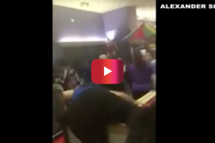 Watch the crazy brawl that started when two women bumped into one another at Chuck E. Cheese