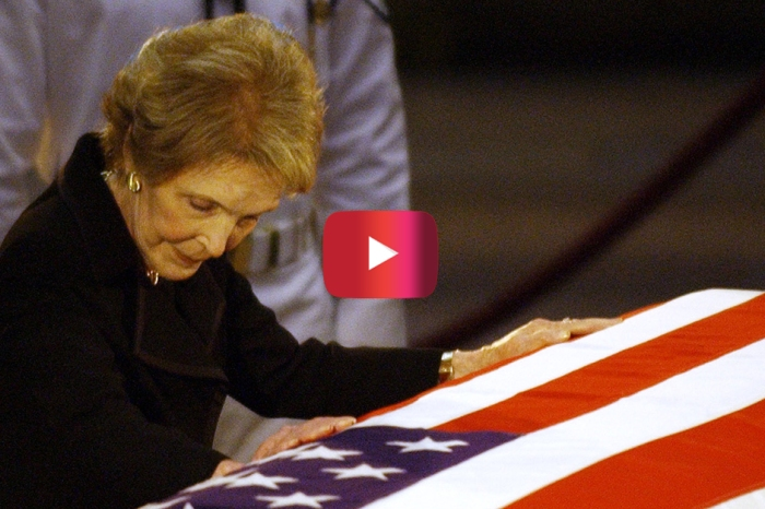 "Nancy Reagan couldn't hold back her tears during the majestic funeral for the ""Gipper"""