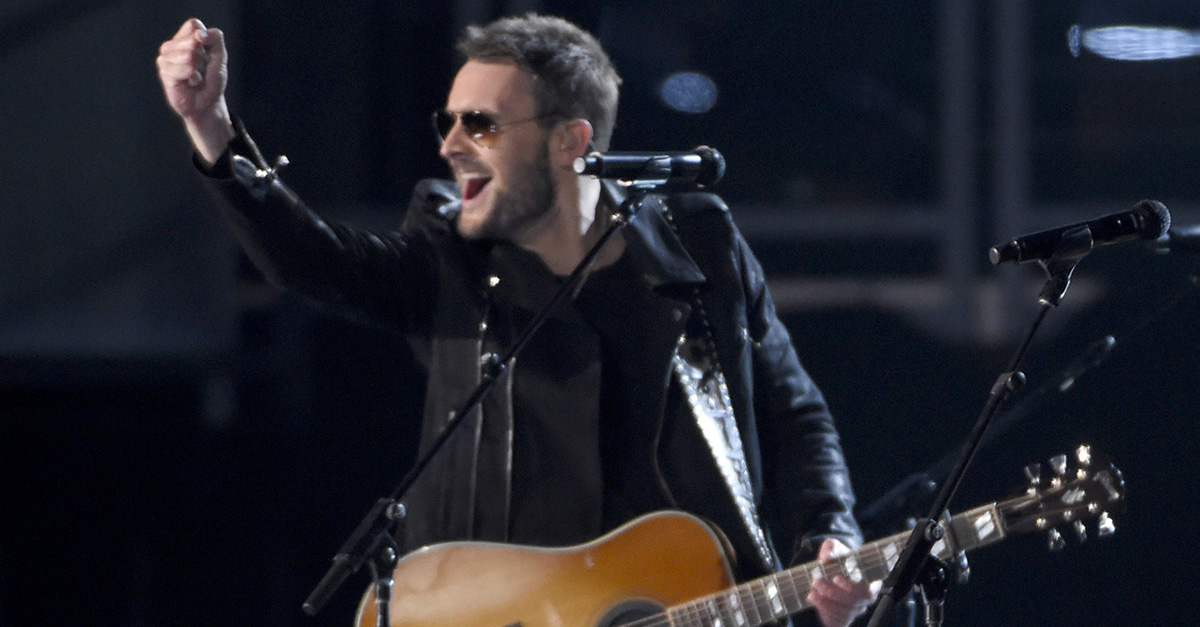 This little fan lost his mind after Eric Church spotted him in the crowd