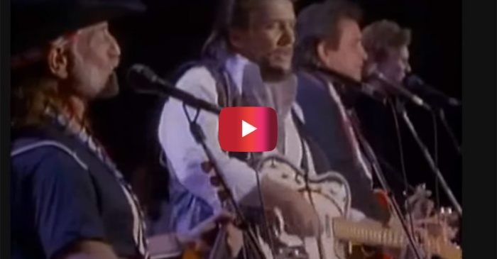 Watch as four country legends took on one stage and made music magic