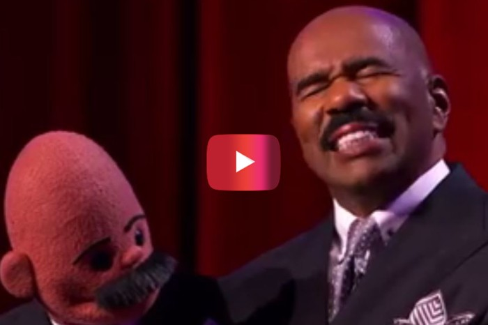 Things took a near-turn for the worst when Steve Harvey tried his hand at puppeteering