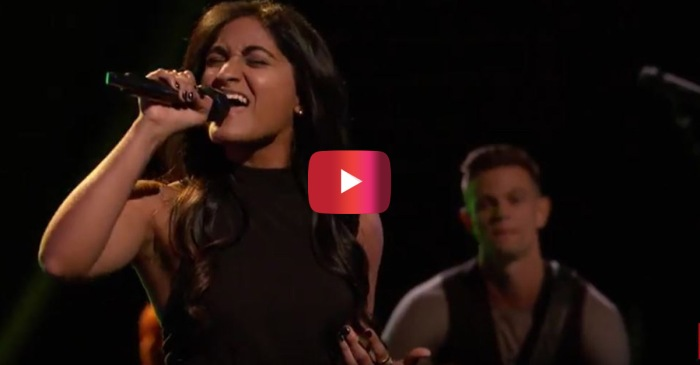 "This unique beauty from ""The Voice"" made an interesting song choice, and it totally paid off"