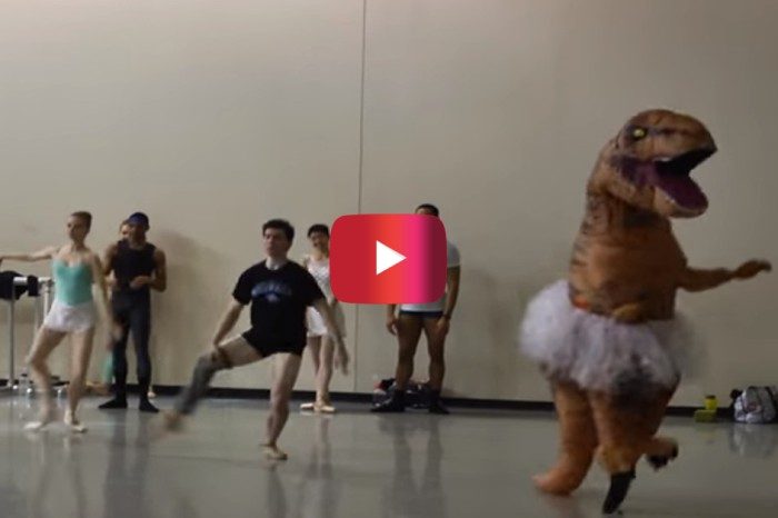 With the poise of a prima ballerina, one T.rex stole the show at this dance rehearsal