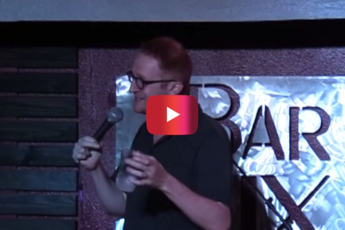 After a woman tried to heckle him about parenting, Steve Hofstetter's comeback shut her down