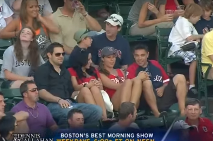 Frisky Guy Makes It to Second Base on Live Game Cam