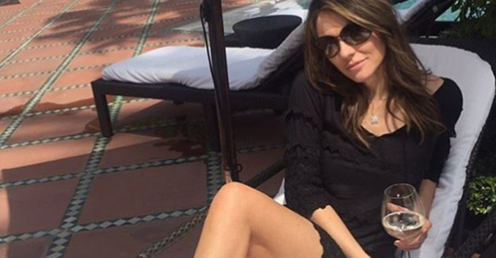 Elizabeth Hurley skipped spring and went straight to summer in this sizzling hot poolside pic