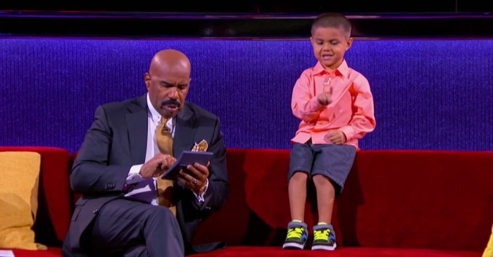 This little math genius schooled Steve Harvey so bad, he had to pull out his calculator for safety