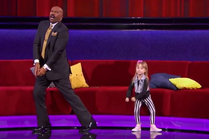 Steve Harvey learns to whip and Nae Nae like a pro — all thanks to his tiny new friend