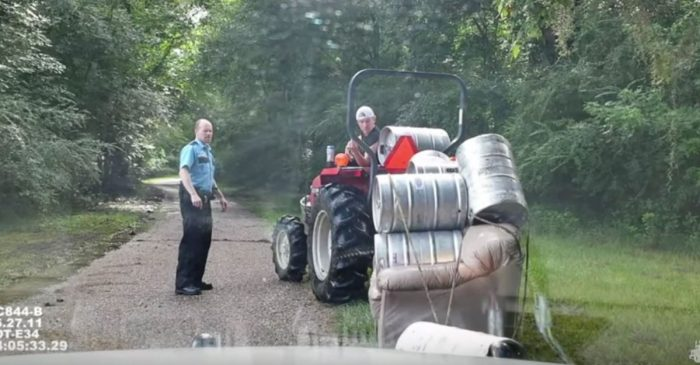 You know you're a redneck when… you get arrested for pulling a keg couch behind a tractor