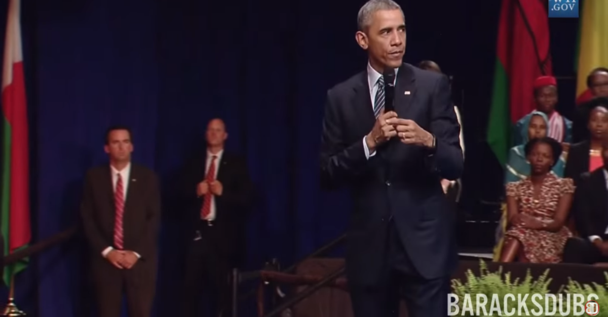 President Obama totally slays in this Rihanna dub