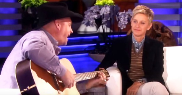 Only Garth Brooks could bring tears to Ellen's eyes — listen to his tribute to moms